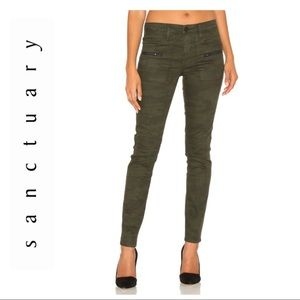 Sanctuary Camo Ace Utility Skinny Jean